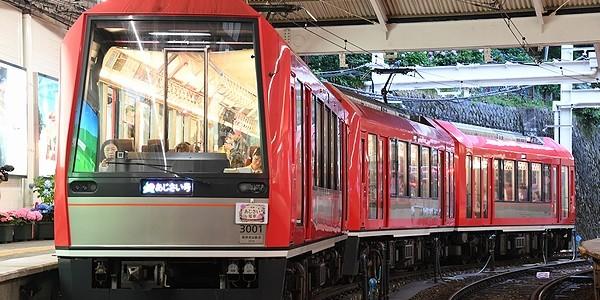 【鉄道】アレグラ夜のあじさい・夜のあじさい (箱根登山鉄道)